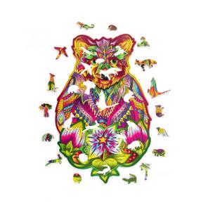 Вдохновленный Медведь (184 детали) - фигурный 3D пазл