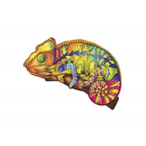 Красочный Хамелеон (143 детали) - фигурный 3D пазл